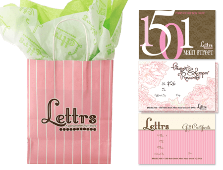 Picture of a clients brand design for lettrs