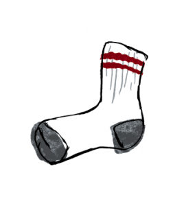 Morning Sock Logo Reversed Color